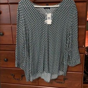 Gap Green Patterned Blouse
